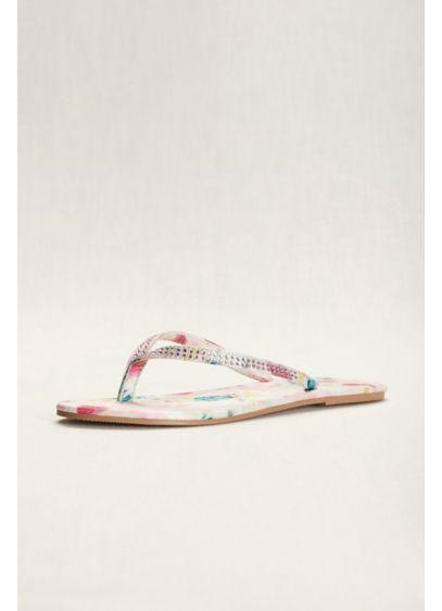 David's Bridal Pink (Floral Crystal Flip Flops)