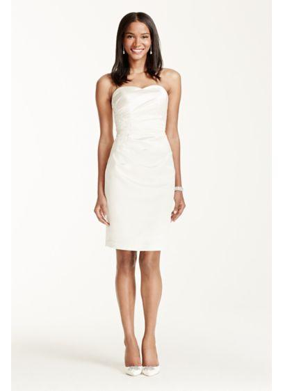 Short Sheath Beach Wedding Dress - DB Studio