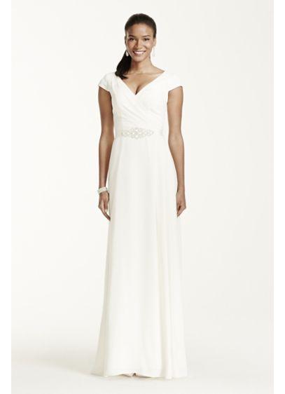 Long A-Line Beach Wedding Dress - DB Studio