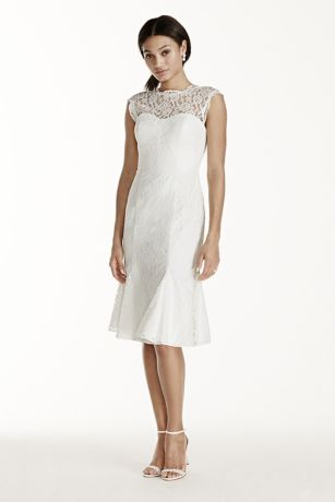 White lace dresses with cap sleeves