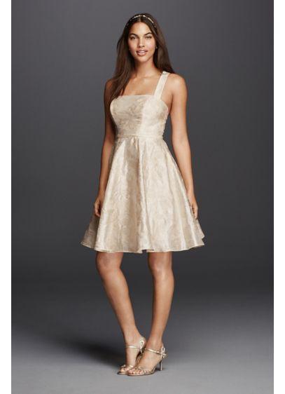 Short Dress with Criss Cross Back Straps | David\'s Bridal