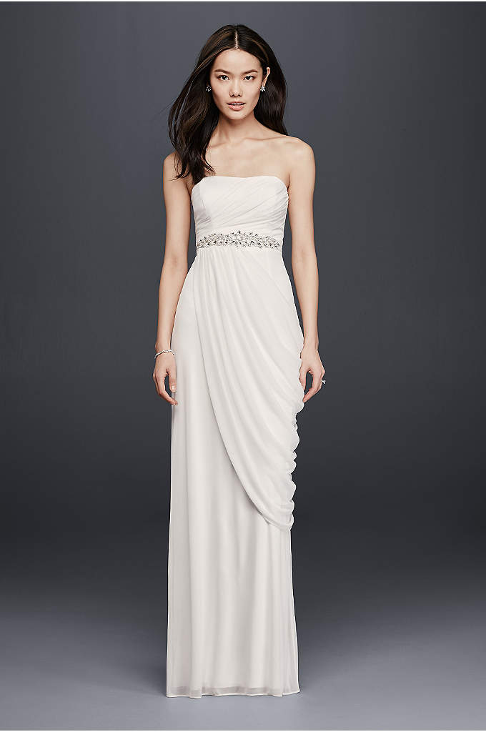 Sheath Wedding Dress with Beading and Side Drape - This goddess-worthy silhouette gives off an airy feel.