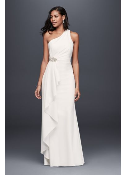 Long Sheath Simple Wedding Dress - DB Studio