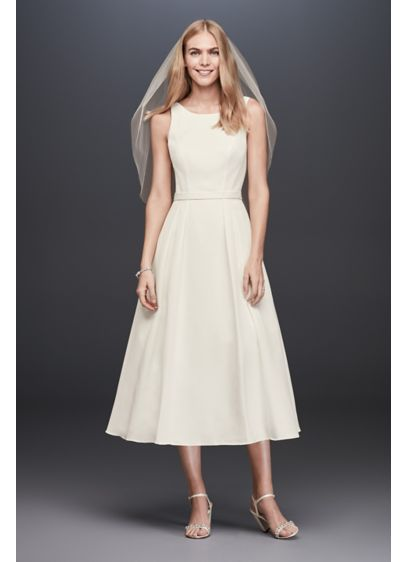 Short A-Line Modern Chic Wedding Dress - DB Studio