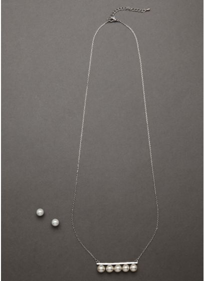 Linear Pearl Set - Wedding Accessories