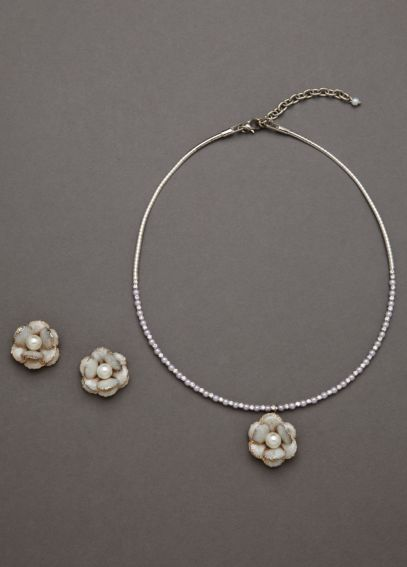 Enamel Pearl Flower Set SE2008