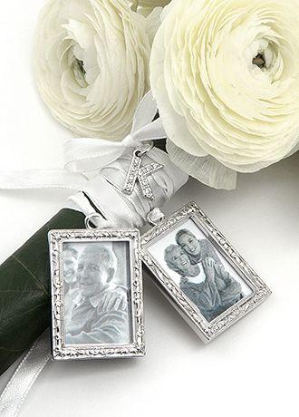 Db Excl Personalized Photo Bouquet Charm Set David S Bridal