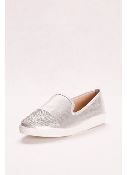 Italina Grey (Slip on Sneaker with Embellished Toe)