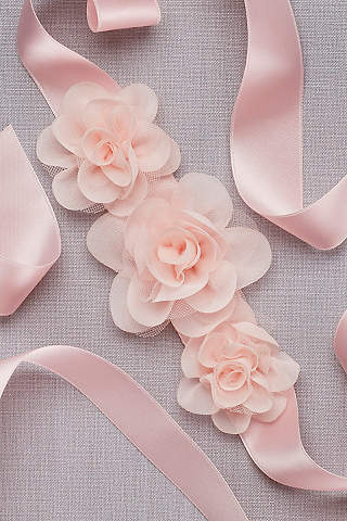 Sash Para Paje de Flores de Organza