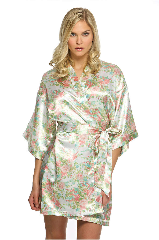 Floral Satin Robe - All the women in your bridal party will