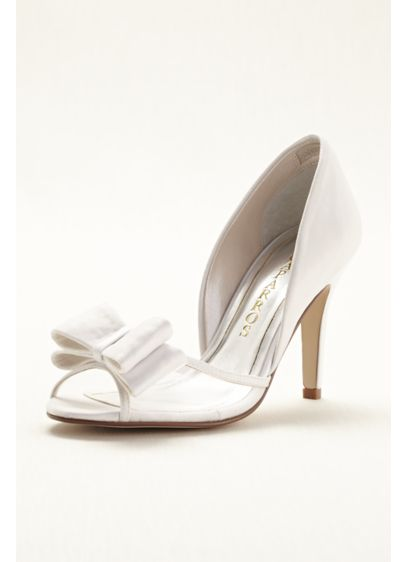 White (Caparros High Heel Peep Toe with Bow)