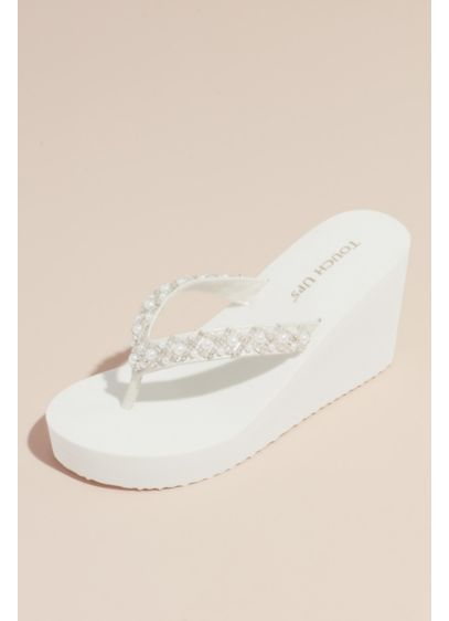Touch Ups White (Touch Ups Shelly Wedge Sandal)