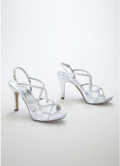 Dyeable Strappy Platform Sandal with Crystals - Wedding Accessories