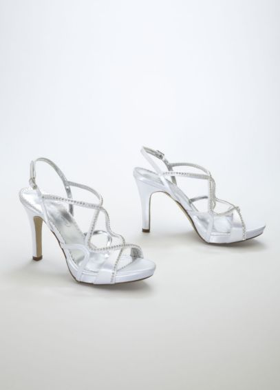 Dyeable Strappy Platform Sandal with Crystals SIERRA