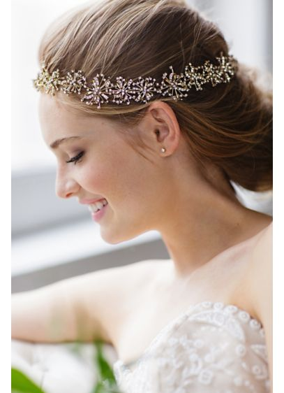 Deco Starburst Halo Headband and Sash - Wedding Accessories