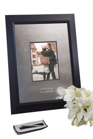 Personalized Signature Frame with Beveled Frame - The most exciting trend for wedding guestbook alternatives!