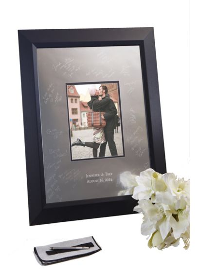 Personalized Signature Frame with Beveled Frame - Wedding Gifts & Decorations