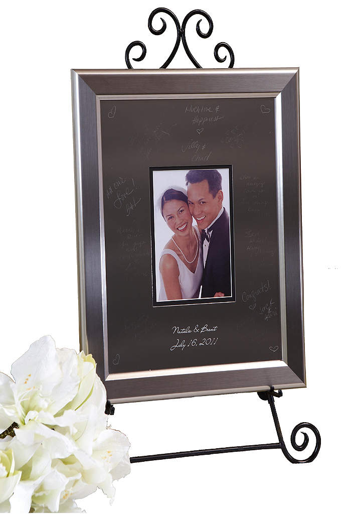 Personalized Signature Frame With Titanium Frame - The most exciting trend for wedding guestbook alternatives!