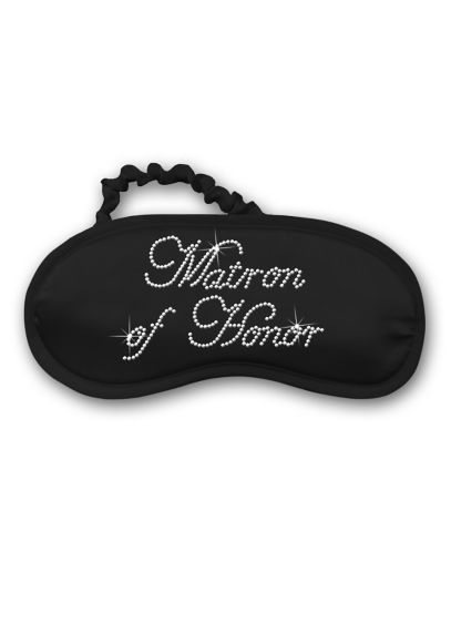 Rhinestone Matron of Honor Satin Sleep Mask - Wedding Gifts & Decorations