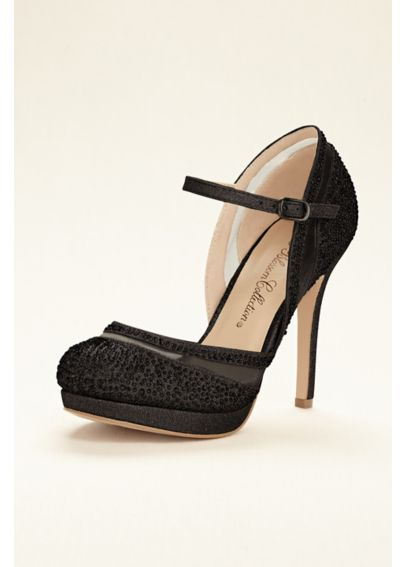 Mesh and Crystal Embellished Closed Toe Pump SOGO8