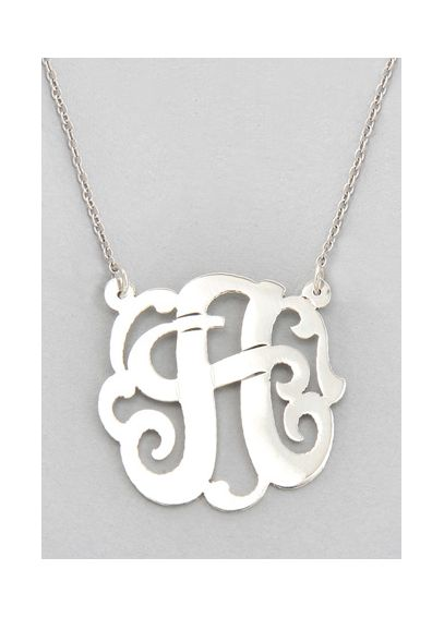 Personalized Sterling Silver Initial Necklace SOJSINS
