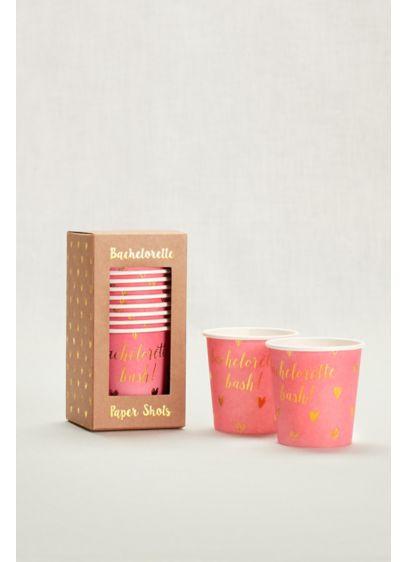 Pink (Bachelorette Party Paper Shots Set of 12)