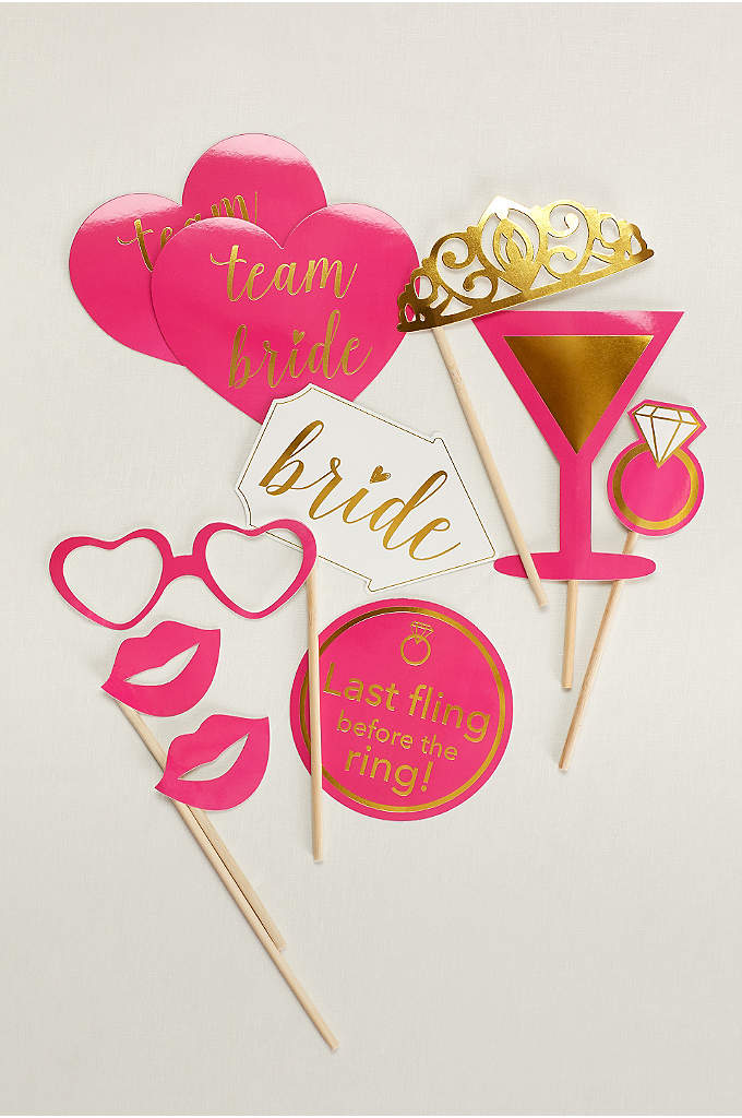 Bachelorette Photo Props Set of 10 - Snap Instagram-worthy photos with the bride using this