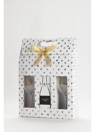 White (His and Hers Wine Gift Set)