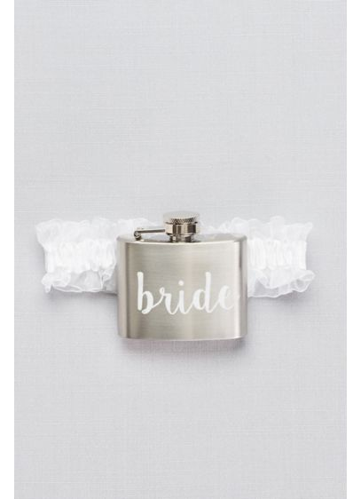 White (Bride Flask Garter)
