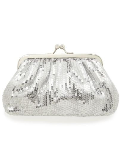 All Over Sequin Kisslock Clutch SQ256