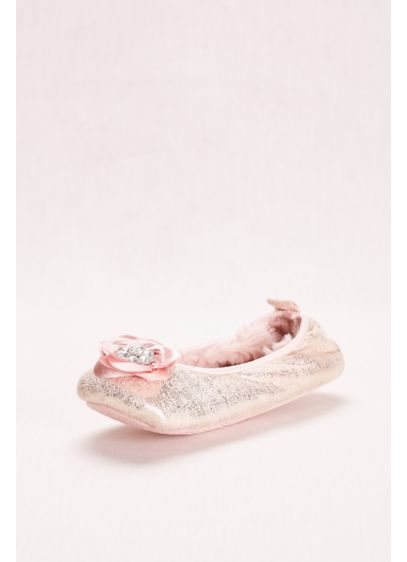 Pretty You London Pink (Ballerina Slipper with Crystal Embellished Rose)