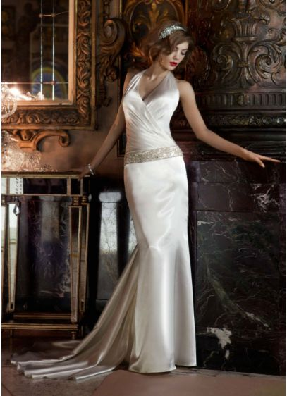 Long Sheath Glamorous Wedding Dress -