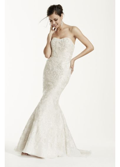 Long Mermaid/ Trumpet Vintage Wedding Dress - Galina Signature