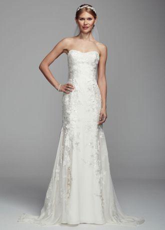 trumpet chiffon wedding dress