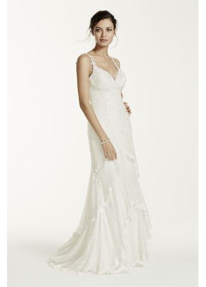 Chiffon Tank Sheath Gown with Illusion Back SWG647