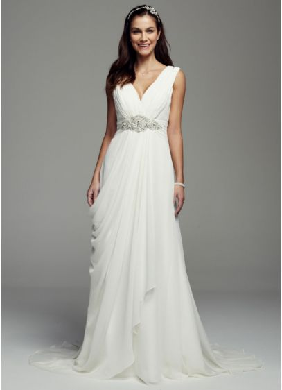Long Sheath Simple Wedding Dress - Galina Signature
