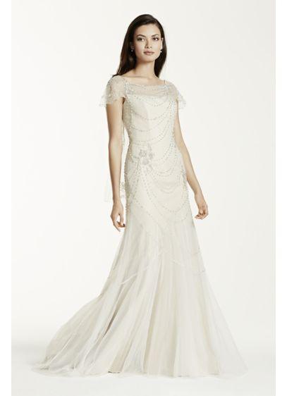 Long Sheath Beach Wedding Dress - Galina Signature