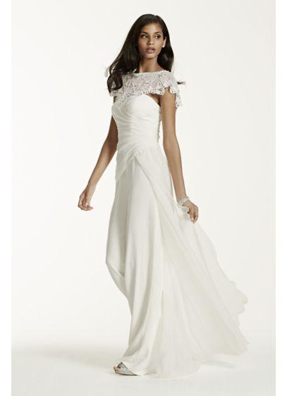 Long Jumpsuit Modern Chic Wedding Dress - Galina Signature