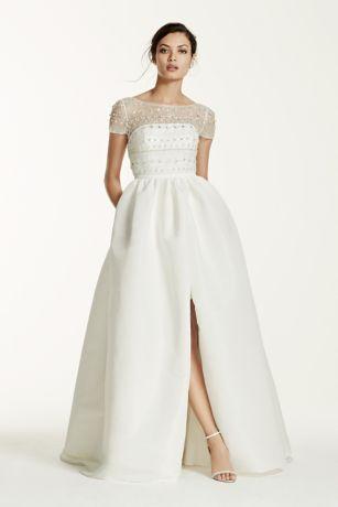 Beau Long Ballgown Modern Chic Wedding Dress   Galina Signature