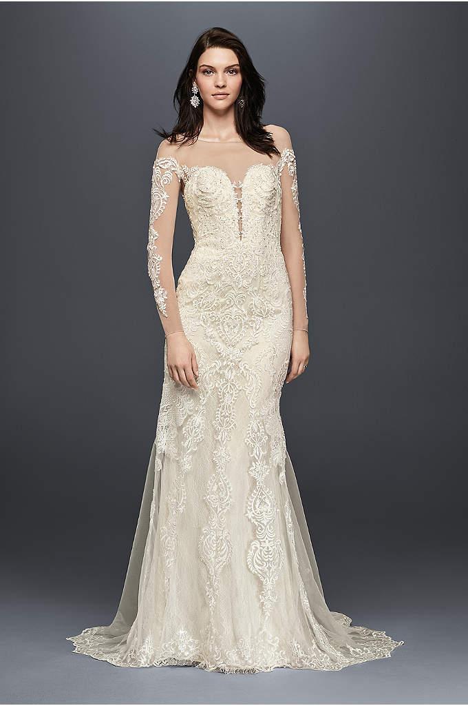 Sheath form fitting wedding dresses davids bridal junglespirit Image collections