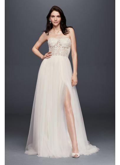 Long A-Line Beach Wedding Dress - Galina Signature