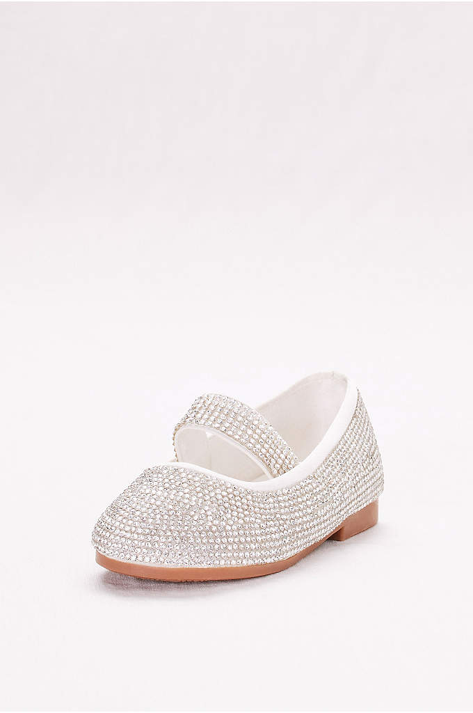 Toddler Crystal-Embellished Mary-Jane Flats - Covered in crystals right down to the straps,