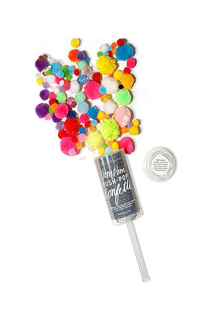 Colorful Pom Pom Push Pop Confetti - Pop up some fun with this colorful mix