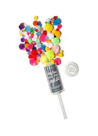 Colorful Pom Pom Push Pop Confetti - Wedding Gifts & Decorations