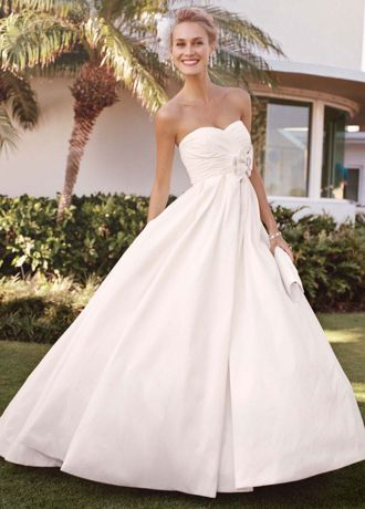 Strapless Shantung Taffeta Sweetheart Ball Gown