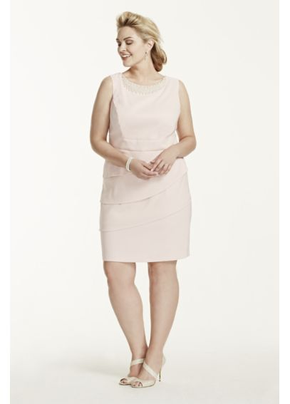 Sleeveless Twill Dress with Pearl Neckline Detail T7813822L1