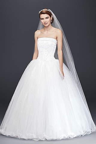 Vestido de Novia con Corset de Satín y Falda de Tul