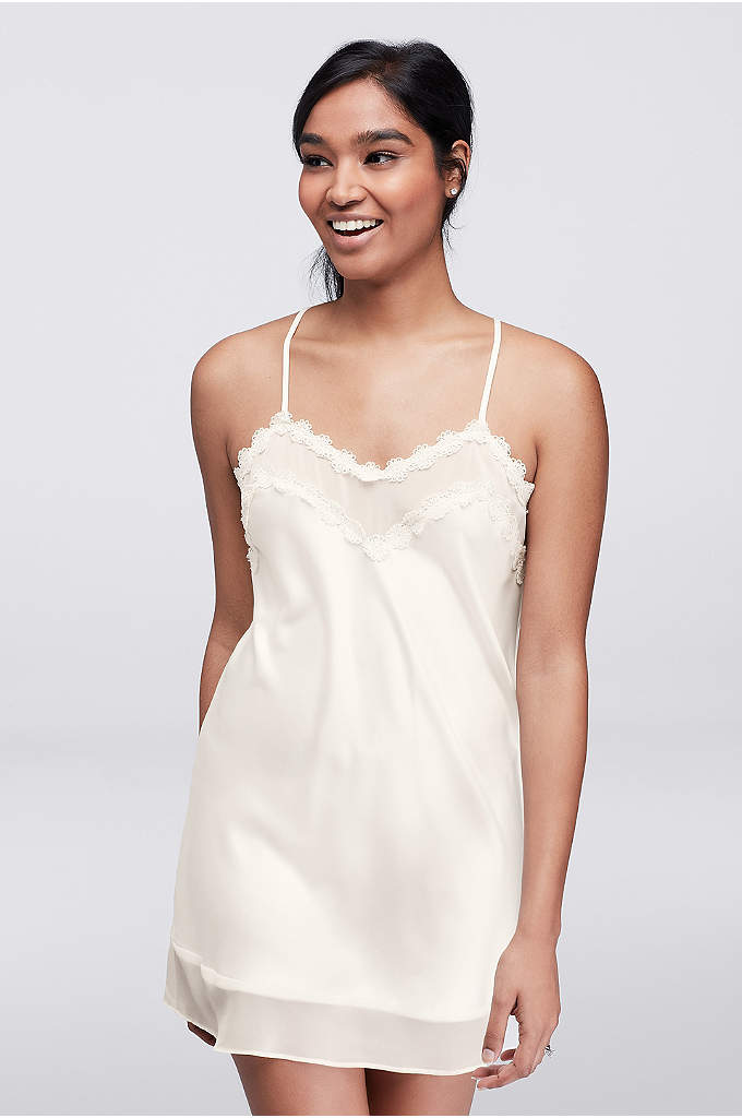 Flora by Flora Nikrooz Vivian Chemise - A classic honeymoon chemise, this little crepe nightie