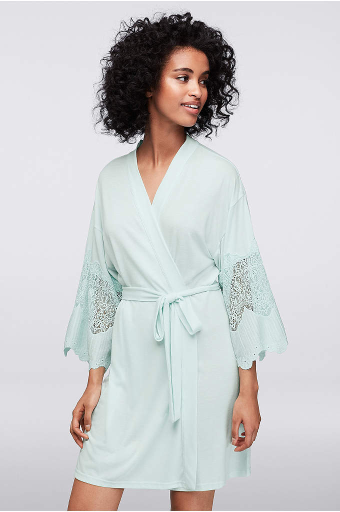 Flora by Flora Nikrooz Elsa Robe - Reach for this silky jersey robe when you