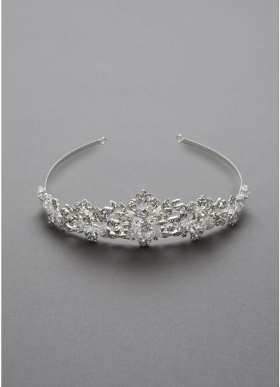 Heavily Beaded Crystal Tiara - Wedding Accessories